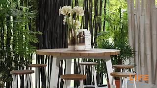 LIFE Outdoor Living - Java bar table white - with Canada bar chairs