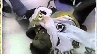 1991-92 - Red Wings @ Bruins - Bench Clearing Brawl