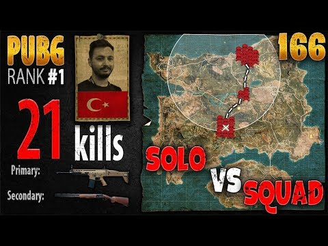 PUBG Rank 1 - Mithrain 21 kills [NA] Solo vs Squad TPP - PLAYERUNKNOWN'S BATTLEGROUNDS #166