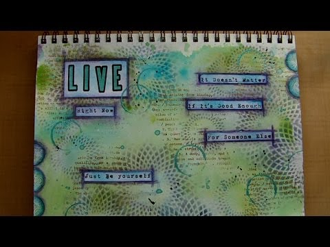 Mixed Media Art Journal Page -  Just Be Yourself