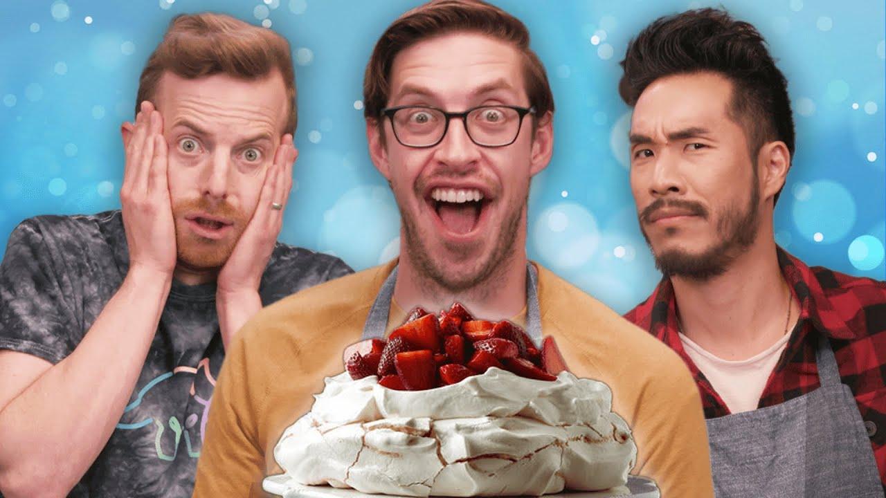 Try Guys Bake Pavlova WITH A Recipe