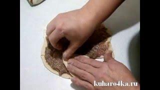 Вкусные слоеные пирожки из пельменного теста.flv