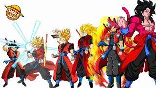 TODAS LAS TRANSFORMACIONES DE GOKU XENO - DRAGON BALL SUPER/HEROES