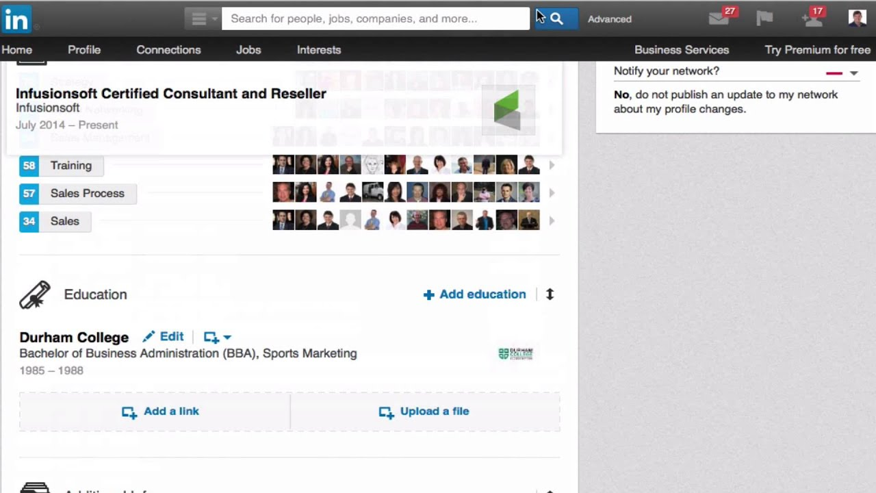 how to search resumes on linkedin