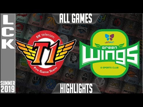 SKT vs JAG Highlights ALL GAMES | LCK Summer 2019 Week 6 Day 2 | SK Telecom T1 vs Jin Air Greenwings