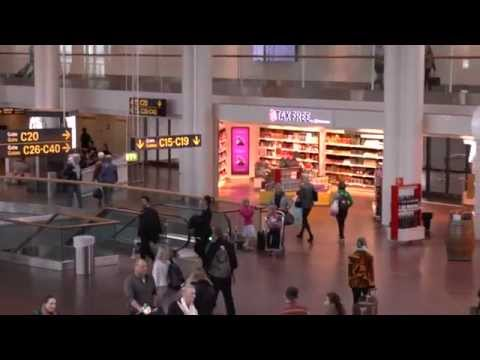 Some views inside Terminal 3 ,Copenhagen Airport, Denmark