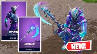 NEW LUMINOS Skin and ASTRAL AXE Gameplay in Fortnite!