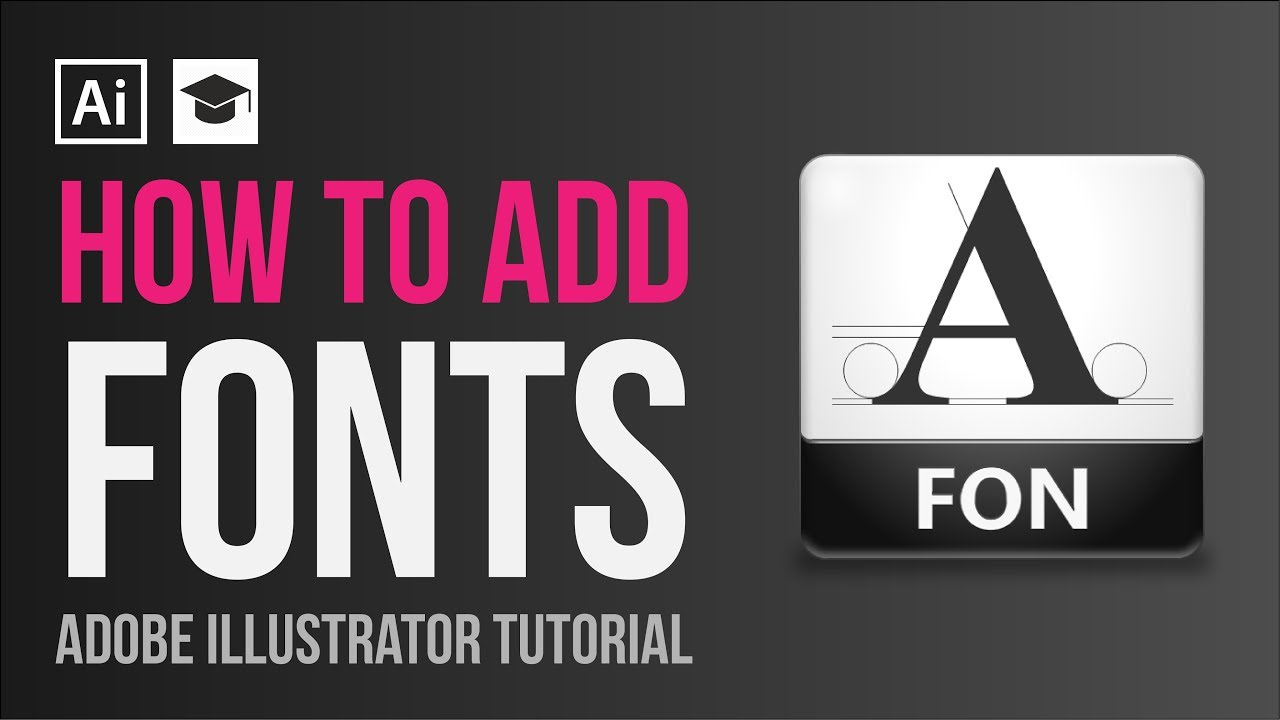 How To Install Adobe Illustrator Fonts Youtube