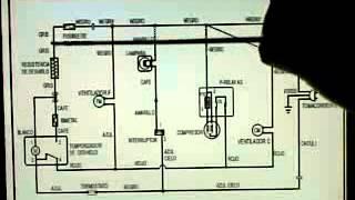 partes del refrigerador o nevera diagrama elctrico