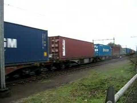 Long intermodal train,veolia transport.