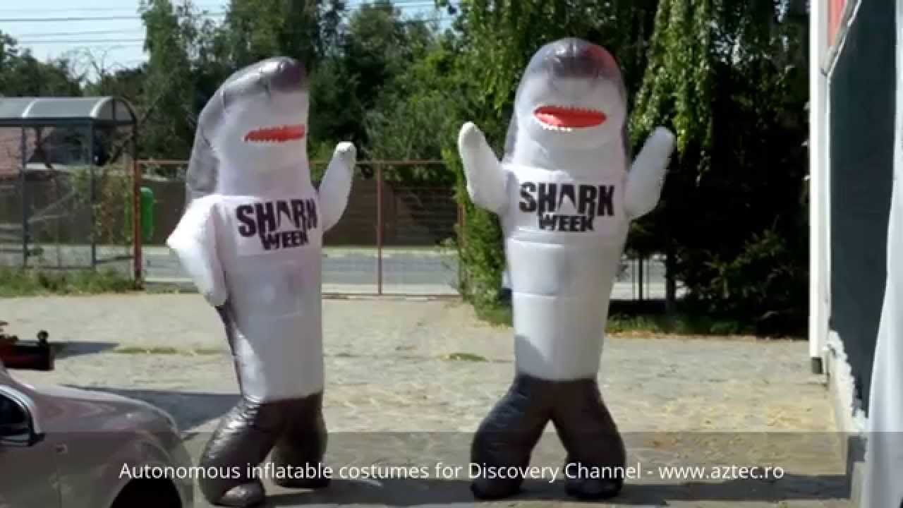 Inflatable costume by Aztec Inflatables® for Discovery Channel - SHARK WEEK - YouTube & Inflatable costume by Aztec Inflatables® for Discovery Channel ...