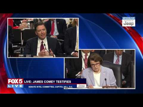 COMEY TESTIFIES: Sen. Dianne Feinstein asks James Comey about oval office meeting with Pres. Trump