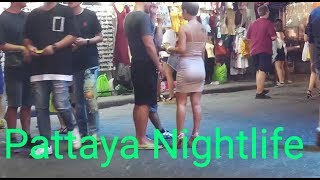 Pattaya Night Walk With Girls Walking Street