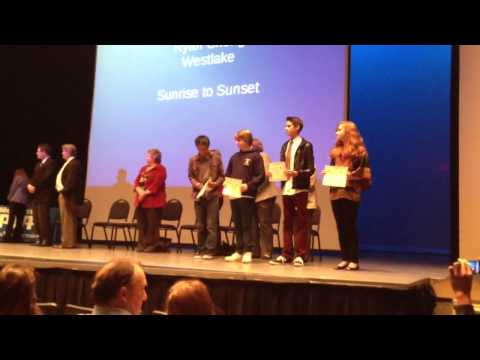 Reflection Award night Conejo Valley School District