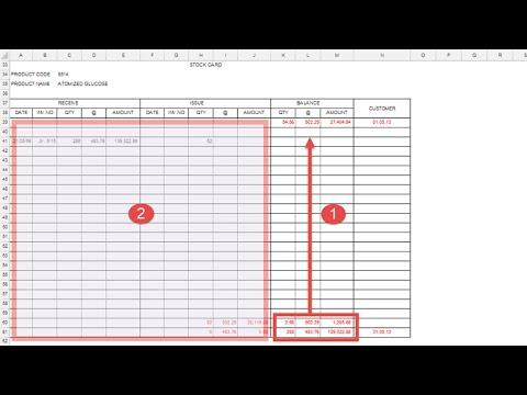 ตัวอย่าง Excel Macro (VBA) กับสต๊อคการ์ด (Stock Card)
