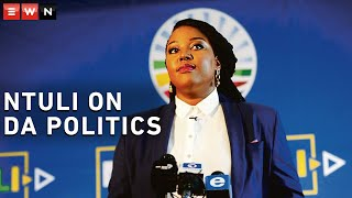 Eyewitness News reporter Nkosikhona Duma had a virtual chat with Democratic Alliance leadership candidate Mbali Ntuli on a range of topics. Here she speaks about internal party politics, Helen Zille and the allegation that black leaders are being purged from the party.  #DemocraticAlliance #HelenZille