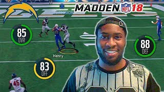 THE CHARGERS ARE THE MOST UNDERRATED TEAM IN THE AFC! Madden 18 Online H2H Gameplay