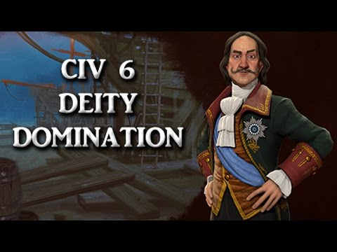 CIV 6 Deity - Domination game, Part 1