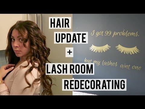TAPE IN EXTENSIONS UPDATE, REDECORATING MY LASH ROOM & ULTA HAUL | VLOG