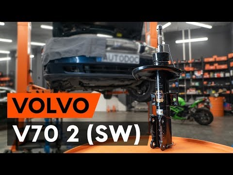 How to replace a front shock strut onVOLVO V70 2 (SW)[TUTORIAL AUTODOC]