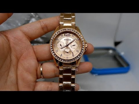 FOSSIL RILEY MULTIFUNCTION ES2811 ORIGINAL UNBOXING