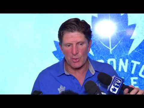 Maple Leafs Morning skate: Mike Babcock - September 22, 2017