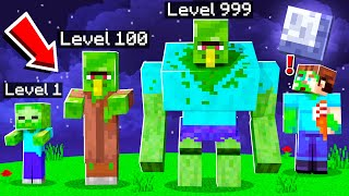 BUILD A ZOMBIE BASE TO SURVIVE THE MUTANT ZOMBIE APOCALYPSE IN MINECRAFT!