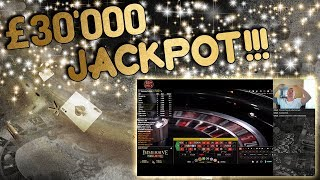 £30,000 JACKPOT Live Roulette!!!