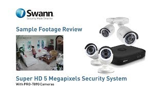Swann 5MP Security Camera DVR Sample CCTV Footage Review Video - DVR-4900 with PRO-T890 cameras