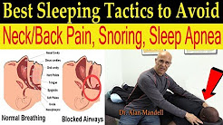 Best Sleeping Positions/Tactics to Avoid Neck & Back Pain, Snoring, & Sleep Apnea - Dr Mandell, DC