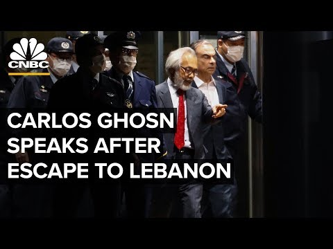 Fmr. Nissan CEO Carlos Ghosn holds a news conference after escape to Lebanon – 1/8/2020