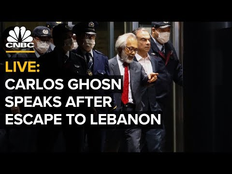 WATCH LIVE: Fmr. Nissan CEO Carlos Ghosn holds a news conference after escape to Lebanon – 1/8/2020