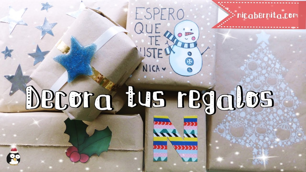 ideas para decorar y envolver regalos envoltorios fciles y originales con papel kraft youtube