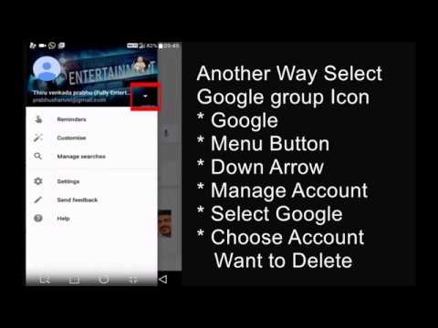 google account delete android device
