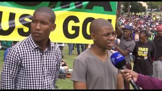 Youth support a call for President Zuma to step down
