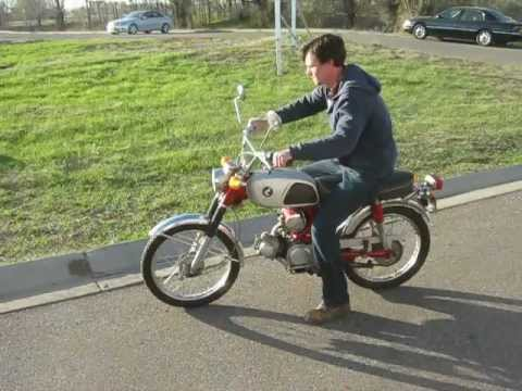 1968 honda cl90 motorcycle for sale in online auction - youtube