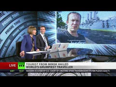 Po-Faced Poser: Tourist from Minsk hailed world's grumpiest traveller
