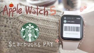 애플워치5 언박싱+애플워치로 스타벅스에서 결제하는 방법…