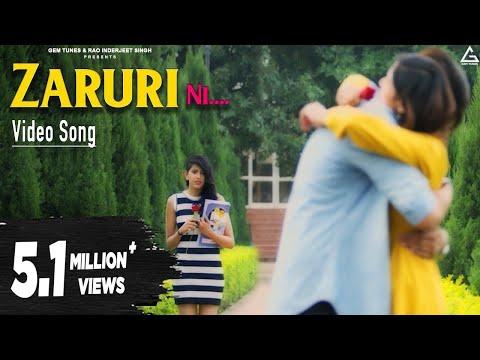 Zaruri Ni | New Punjabi Song | R Mohit Feat. Neetu Bhalla | Latest Punjabi Songs 2018 | Yellow Music