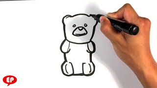 How to Draw Gummy Bear - Green - Easy Pictures to Draw Step by Step
