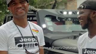 Ghana Jeep Club fêtes children at Potter's Orphanage Village