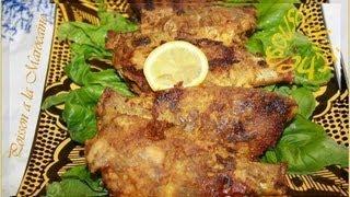 Recette Marocaine de poisson/Fish-The moroccan way /سمك مغربي و رز