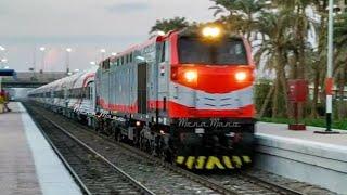 القطار الروسي الجديد مرور محطة قويسنا باقصي سرعة -  Transmashholding Egyptian Car