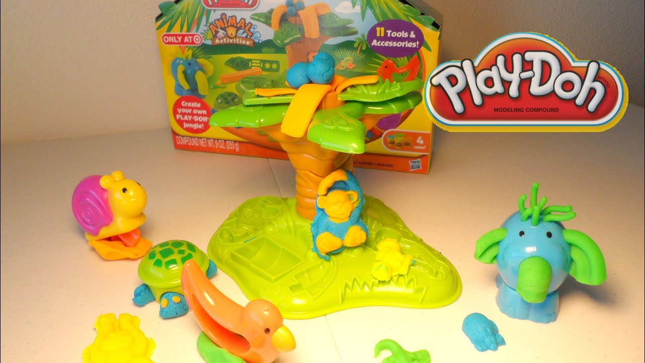 Juegos De Bañar Animales Play Doh Animales De La Jungla Play Doh Jungle Pets