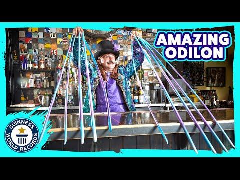 Tallest Hat & Longest fingernail extensions   Odilon Ozare - Meet The Record Breakers