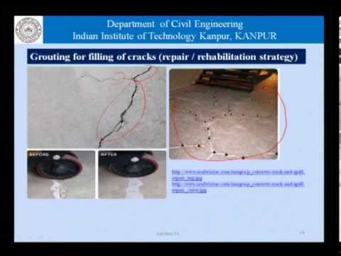 Mod-01 Lec-31 Grouting and importance of formwork in concrete construction