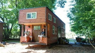 Cancer Survivor Downsizes From 2500sf Home To Custom Tiny House On 34' Trailer