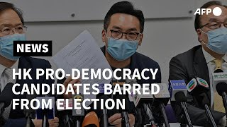 Hong Kong pro-democracy Civic Party candidates barred from election | AFP