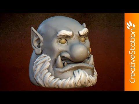 Head of the Ogre - 3D Speed art (#Blender) | CreativeStation