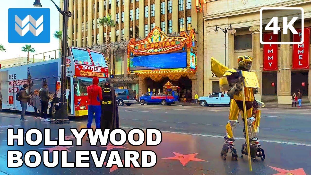 Walking Around Hollywood Boulevard In Los Angeles